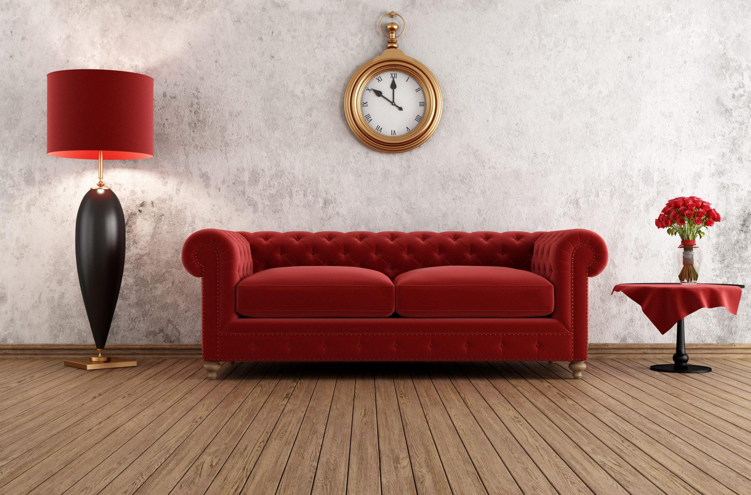 Vintage og elegant stue