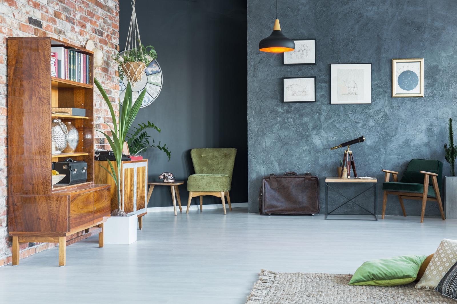 Antikk interiør design i moderne stil