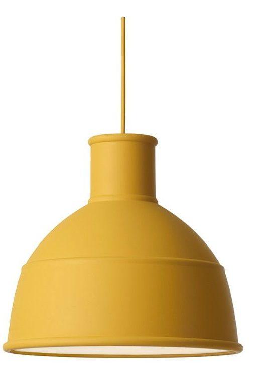Unfold Pendel mustard fra lampemesteren.no